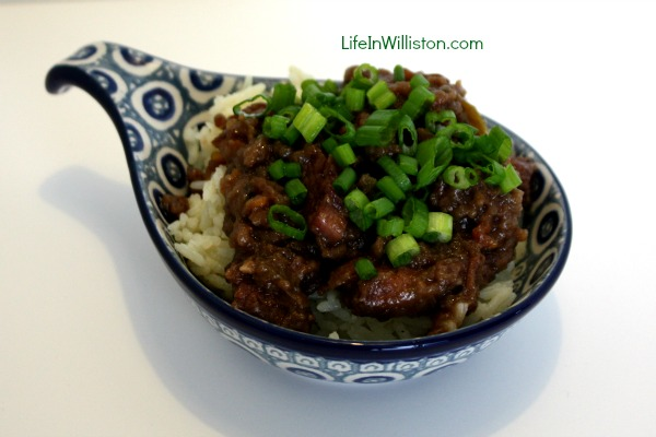 Mongolian Beef in the Slow Cooker