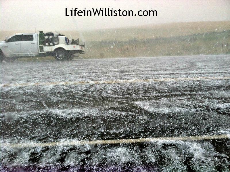 hail in north dakota