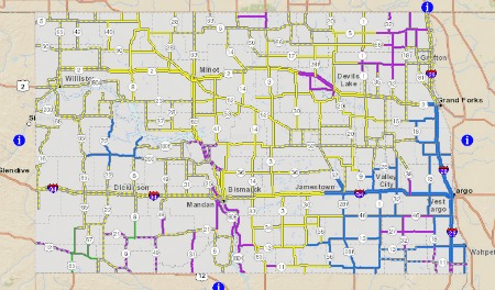 Up to Date Road Conditions in Williston
