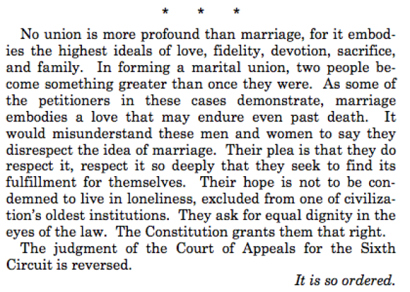 Anthony Kennedy on same sex marriage